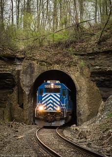 Kanawha River Railroad in Moxahala, OH