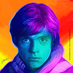 Star Wars Luke Skywalker Pop Art painting (Howie Green) Tags: luke skywalker star wars pop art painting