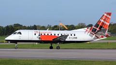 G-LGNB (AnDyMHoLdEn) Tags: loganair saab340b egcc airport manchester manchesterairport 23l