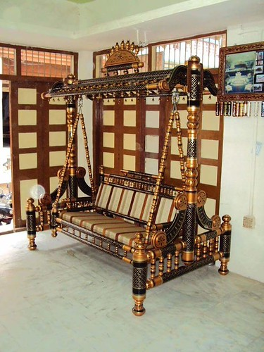 Indoor Swings Jhula Made Of Wooden Handicrafts From India Free