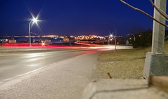 Mesaba Ave, Duluth, MN (minnesotagypsy) Tags: pentax mn minnesota duluth city street longshutter lightblur lights nightshot night