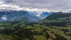 Ibergeregg (Silvan Bachmann) Tags: switzerland swiss suisse schwyz iberegg pass mountain spring mountains cloudy green forest nature landscape drone dji phantom view lake lucerne snow