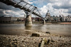 Debris at low tide (The Frustrated Photog (Anthony) ADPphotography) Tags: architecture bankside category citiestowns decay england london milleniumbridge places riverthames stpaulscathedral travel uk unitedkingdom greatbrtitain river water beach debris skyline cityscape dome placeofworship church outdoor canon1585mm canon70d canon travelphotography tide buildings construction riverbank sky watercourse bridge building