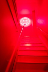#PicOfTheDay Red neon (Candidman) Tags: ladder lights party red neon smiley face