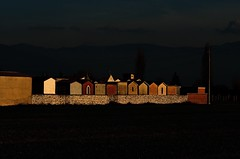 (Carlo Pedretti) Tags: umbria landscape sunset cemetery light shadow beautifullight colors walls silence dsc2894