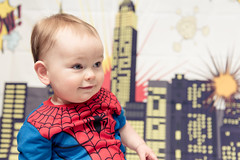 Spider-Man (Katherine Ridgley) Tags: toronto baby babyboy babyfashion cutebaby cute toddler toddlerboy toddlerfashion cutetoddler spiderman hero superhero comic comicbook portrait child kid marvel peterparker little littleboy family indoor backdrop