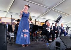 Meschiya Lake at the New Orleans Jazz and Heritage Festival on Sunday, April 29, 2018