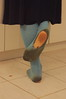 bknh-9774 (jackvanvliet) Tags: blue knee high socks worn dirty holes women outdoors barefoot