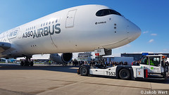 Airbus A350-900XWB (jakobwert) Tags: airplane aircraft airport ber sxf berlinbrandenburg ila ilaberlin airshow airline airplanes aviation avgeek airlines jet ila2018 berlin airbus a350 a350xwb testaircraft pushback