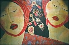 Feminas... (antonè) Tags: angelomaggi pittore sassari mostra acrilicosutela feminas donne orecchini corallo ritratti sardegna antonè
