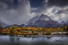 Río Eléctrico (Mauro Esains) Tags: río frío fresh agua argentina el chalten santa cruz vegetación ñires nubes cielo cerros clouds niebla nikon negro nikonsigma nieve tormenta turismo tranquilidad