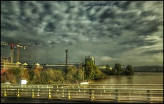 Bordeaux beauty.... (Sherrianne100) Tags: hdr cloudy bridge river garonne citéduvin bordeaux france