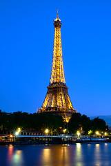Eiffel Tower Lights (szeke) Tags: eiffel tower paris france lights bluehour landmark architecture travel