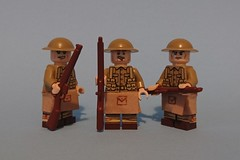 The Jocks are coming! (KPFR5Q2XZXQW774THJOIGWTBCI) Tags: lego ww1 trench soldier scottish kilt tommy british highlanders smle jock