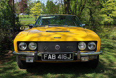 The Jensen Interceptor (big_jeff_leo) Tags: car carshow yellow vehicle veteran vintage british classic classiccar automotive auto