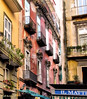 Colorful city corner (jillrowlandwv) Tags: spain barcelona europe city street cuilding architecture colorful canon canonphoto travel