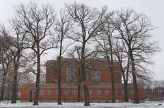 Berlin - Schwimmhalle Finckensteinallee (damianziel) Tags: pentax europe germany berlin city cityscape architektura architecture architektur arch archi deutschland smcpda1855mmf3556alwr trees snow