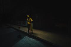 I T (Panda1339) Tags: 28mm leicaq hk summiluxq 香港 raincoat hongkong streetphotography yellow ffff00 cleaning it