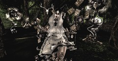 As mad as the Hatter (☢.:Myth:.☢) Tags: anypose secondlife sl alice hatter forest lost dark wonderland