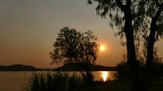ein schöner Sonnenuntergang