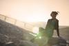 Sandra (3) - Savines le Lac - Avril 2018 (Le Rêv'elle ateur) Tags: canon eos 6d eos6d canon70200f4 paca hautesalpes savineslelac modèle portrait femme woman sandra shooting extérieur outside serreponçon durance lac lake terre sol ground soleil sun couchédesoleil contrejour backlight pont bridge
