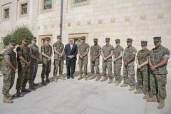 Secretary Pompeo Thanks U.S. Marine Security Guards at U.S. Embassy Jordan (U.S. Department of State) Tags: mikepompeo jordan amman