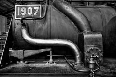 Loko (Svendborgphoto) Tags: metal machinery lokomotiv iron heavyduty monochrome bw blackandwhite svendborgphoto hirschsoerensen sonya7ii sonyalpha 28mmfe dark 1907 german deutschland detail