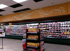 (A little bit) more Marketplace/Banner style stenciling (l_dawg2000) Tags: 2018remodel cordova delicatesen grocery grocerystore healthbeauty kroger labelscar marketplace meats memphis pharmacy produce remodel retail scriptdécor shelbycounty supermarket tennessee tn trinitycommons cordovamemphis unitedstates usa