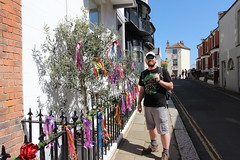 Craig and coloured ribbons (ec1jack) Tags: eastsussex hastings jackinthegreen canoneos600d ec1jack kierankelly england britain uk europe spring may bank holiday sunny morrisdancers greenman festival event tradition dancers parade green pagan southcoast 1066country coloured ribbons