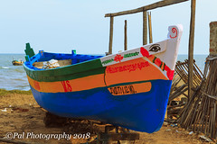 A typical country boat used for fishing (ppaulvadivu) Tags: paulvadivu india vembar fishing boat canoneos70d canonef2470 gulf mannar seascape lighthouse jetty