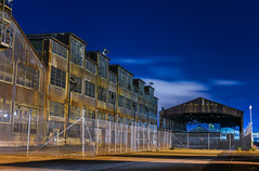 forest city site (pbo31) Tags: sanfrancisco bayarea california nikon d810 color night dark may 2018 boury pbo31 city urban blue centralwaterfront pier70 forestcity industrial warehouse demolition site brown historic construction dogpatch