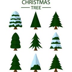 free vector Different Christmas tree set (cgvector) Tags: abstract background ball business card cartoon celebration christmas collection coniferous craft december decorated decoration design drawing elements fashion fir flat garland gift graphic greeting happy holidays icon isolated january merry new ornament paper party season set sign star stylized symbol tree unusual vector winter xmas year