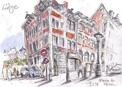 Dessiner Liège 2018 - La Friterie du Perron © Detlef Surrey (Detlef Surrey) Tags: dessinerliege2018 cityview stadtbild liège urbansetches usk uskbelgium detlefsurrey