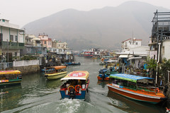 Tai O village 1 (D-j-L) Tags: hongkong newterritories hk taio village fishing stilthouses stilts river water boats asia east fareast china lantau island canon g7x g7xmarkii day daytime cloudy misty hazy
