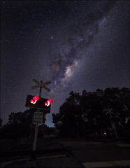 Galactic Crossing (SteveKPhotography) Tags: sony stevekphotography a99ii alpha ilca99m2 sal1635z variosonnar163528za variosonnart281635 za carlzeiss scenery scenic astrophotography milkyway galaxy stars nightsky night dark trees nature outdoors celestial longexposure westernaustralia