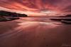 Orange Bay (Crouchy69) Tags: sunrise dawn landscape seascape ocean sea water coast clouds sky beach sand reflection little bay sydney australia