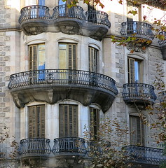 Rounding the corner, Barcelona