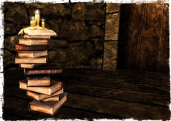 FF 2018 - Icaland - Book Candleholder 01 (Mondi Beaumont) Tags: icaland chandelier books candle candleholder deco decoration furnitures medieval rp roleplay castle tavern sl secondlife fantasy faire fair 2018 ff relay for life relayforlife rfl cancer fightcancer support elf elves elven ava avatar avatars fae faes pixie pixies drow merfolk merman mermaid creature creatures creator creators fairelands fairlanders enthusiasts performer clothes clothing cloths fashion garden decorations jewelry sim sims sponsors fundraise mesh