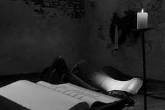 Broken Bells (Von Noorden) Tags: noiretblanc einfarbig wand black white blackandwhite bw sw schwarzweiss topv germany schwarz weiss weis schwarzweis shade monochrome plain bridge metal metall bricks backstein lübeck architektur gebäude unesco church kirche stmarys cathedral tower skyline turm marienkirche deutschland religion churches bell bells broken destroyed ww2 war krieg denkmal monument memorial candle world blackwhite monotone sightseeing bombing travel