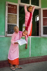 School Time (debbykwong) Tags: schooltime nuns monastery burma myanmar myanmarburma burmese mandalay myanmartrip streetincolor lifeinmyanmar peopleonthestreet streetmood streetshot streetmoment streetstory urbanandpeople travel travelphoto leica leicaq leicaqtyp116 leicacamera leicaphoto