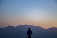 jump into the heat (gavin.hoskins) Tags: lakedistrict cumbria cumberland lakeland outside outdoors view landscape mountain sunset tones light shadow silhouette evening hiking walking keswick latrigg spring 2018