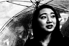 Rainy Portraits.... (Victor Borst) Tags: street streetphotography streetlife reallife real realpeople asia asian asians faces face candid travel travelling traffic urban urbanroots urbanjungle blackandwhite bw mono monotone monochrome fuji fujifilm umbrella umbrellas portrait streetportrait tokyo shibuyacrossing female girl woman lady