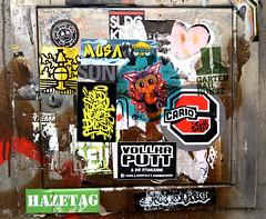 stickers in Hamburg (wojofoto) Tags: hamburg germany deutschland streetart stickers stickerart sticker wojofoto wolfgangjosten wojo