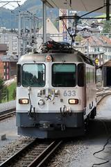 Disentis/Mustér - RhB Ge 4/4 II 633 (Kecko) Tags: 2018 kecko switzerland swiss schweiz suisse svizzera graubünden graubuenden gr disentis mustér surselva oberalp rhätischebahn rhaetian railway viafierretica rhb ge44ii zuoz lokomotive 633 engine locomotive bahn eisenbahn railroad station bahnhof ge44ii形電気機関車 swissphoto geotagged geo:lat=46704870 geo:lon=8855370