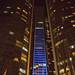 Jumeirah Hotel viewed between two towers of the Etihad Residences night time, Abu Dhabi2