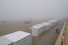 man@work (Werner Schnell Images (2.stream)) Tags: ws man work dehaan belgien strand beach huts nebel fog