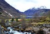 water into the fjord (ekelly80) Tags: norway geiranger april2018 spring geirangerfjord møreogromsdal fjord mountains water waterfall rocks rocky town view snow snowy
