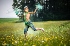 Symbiosis ... (Sam' place) Tags: 2018 boy color field flowers fun outdoor powder