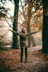 Autumn leaves (Ilona-de-Lange) Tags: autumn fall leaves girl wolvega nieuwe aanleg weststellingwerf friesland nederland netherlands