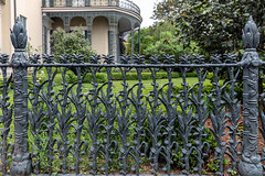 Happy Fence Friday ! (Jill Clardy) Tags: 2018 cruise frenchquarter gardendistrict louisiana ncl neworleans northamerica norwegiancruiselines unitedstates repositioning 201804079l8a0803 wrought iron fence corn stalk cornstalk architecture